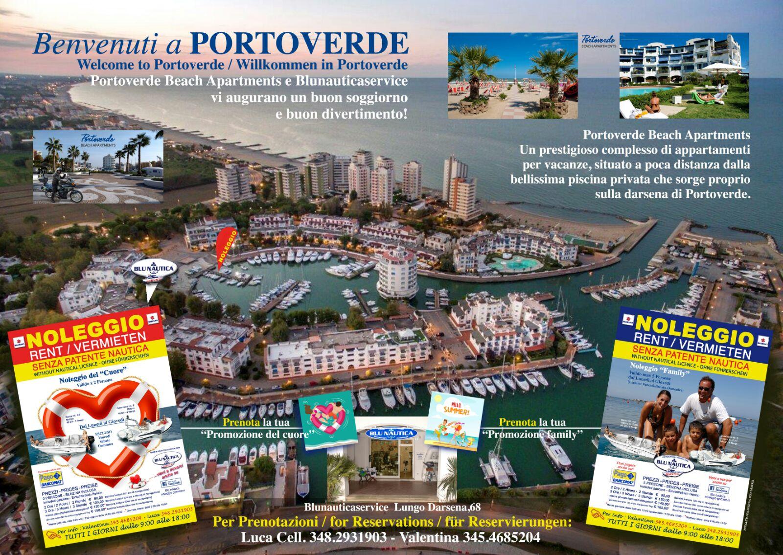 Benvenuti a Portoverde con Blunautica noleggio gommoni